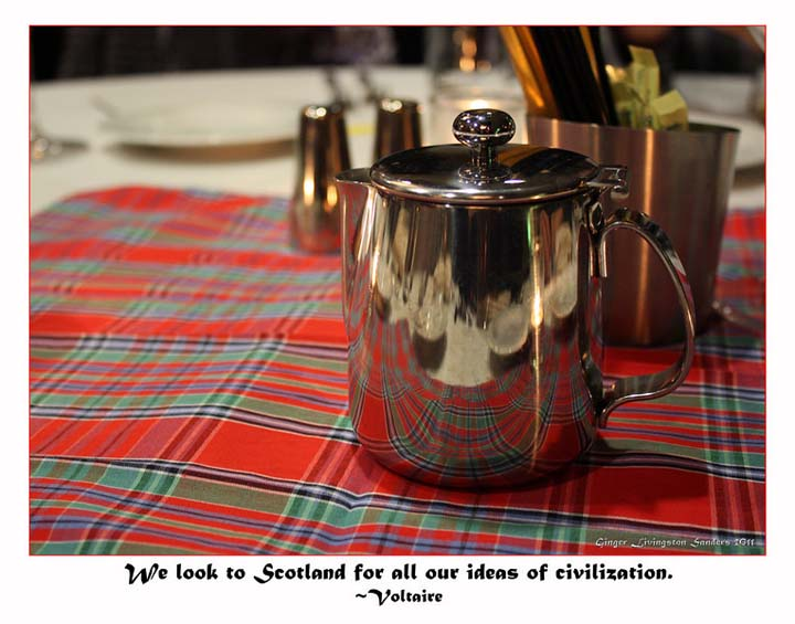 All in all Burns Night is a most civilized affair. Voltaire said it best. & Burns Night