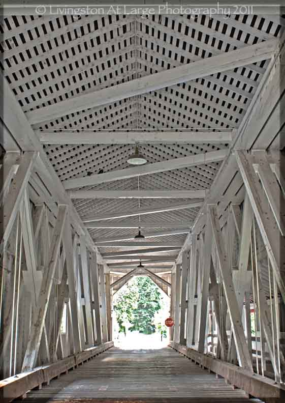 Oregon Covered Bridges-Westfir Interior