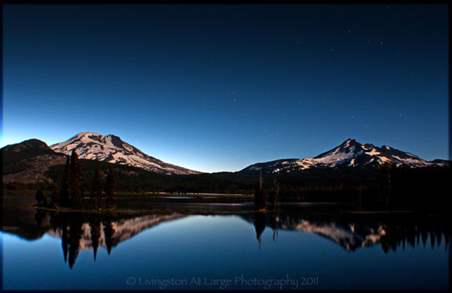 Sparks Lake Moonlight-Central Oregon
