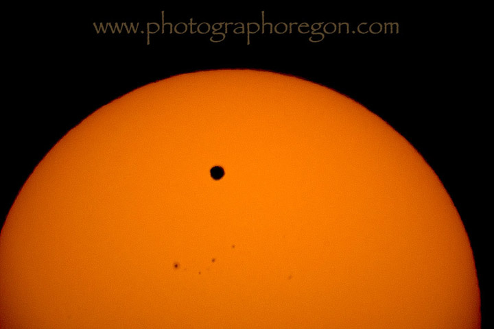 Venus transit Oregon