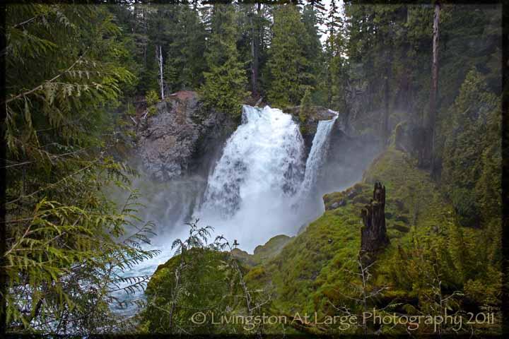 Sahalie Falls spring thaw