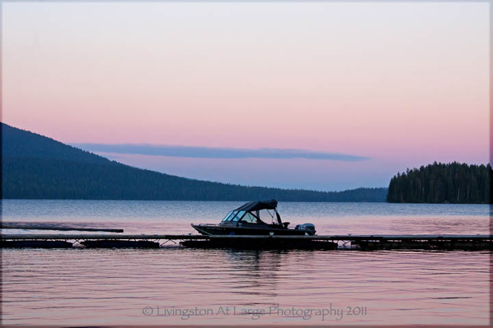 Twilight Lake Boat