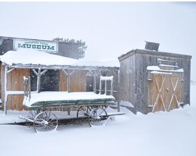 Snow in Shaniko, OR