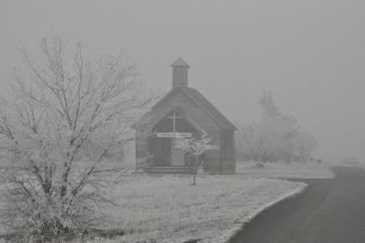 Old bakeoven schoolhouse in Shaniko